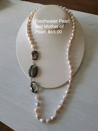 white and black beaded necklace Dufresne, R0A 0J0
