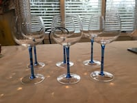 Crate and Barrel Moxie Wine Goblets and Martini Glasses