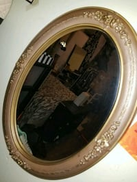 round brown wooden framed mirror San Jose, 95126