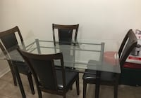 Dining table with 4 leather chairs Mississauga