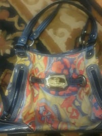 blue and yellow floral handbag Lancaster, 93534
