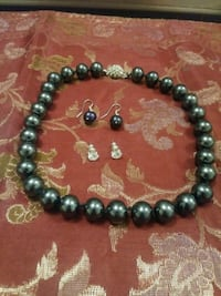 black and silver beaded necklace McLean, 22101