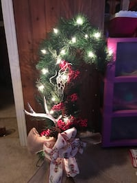 Antler wreath with lights