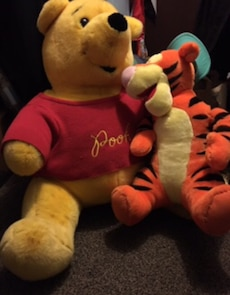 Winnie The Pooh and Tigger plush toy