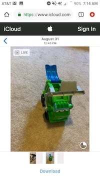 Dump truck used with play doh.