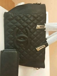 black leather quilted tote bag West Valley City, 84120