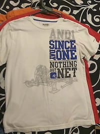 white, blue, and gray And1 crew-neck t-shirt London, 40741