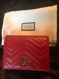 Authentic Red Gucci Marmont Leather Wallet  Lindale