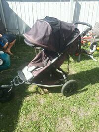 baby's black and gray tandem stroller 3162 km