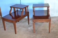 2 vintage end tables
