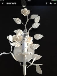 white petaled roses embossed light sconce Brock, L0K 1A0