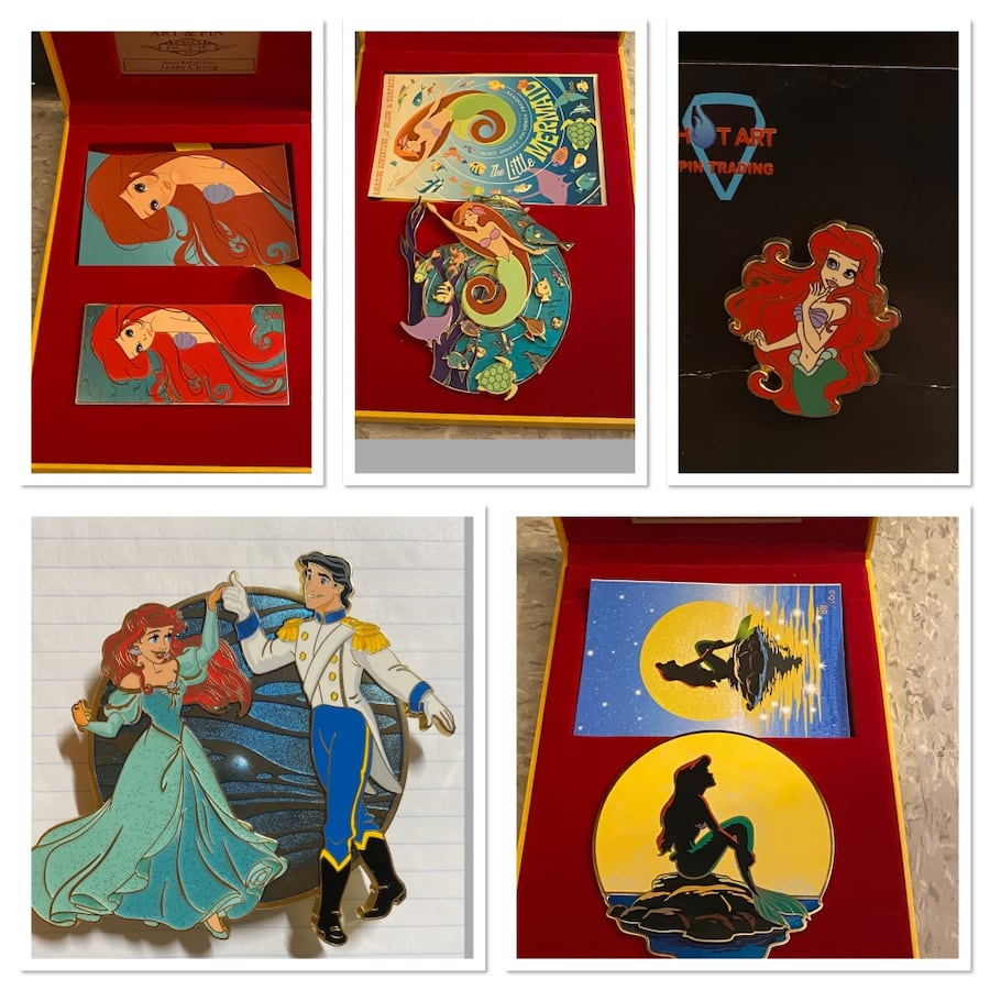 RARE Lot of Disney Pins limited edition Ariel the little mermaid