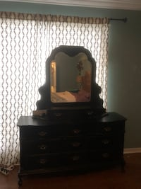 Solid wood dresser with mirror Harvey, 70058