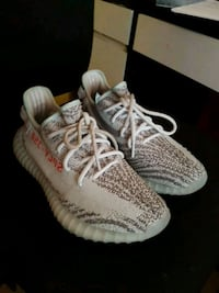 pair of Blue-tint Adidas Yeezy Boost 350 v2 London, W3 8RY