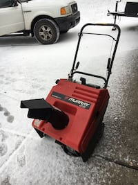 Black and gray murray snow blower