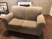 Beige Roll Arm Loveseat ~ Artisan Collection Waterford, 48328
