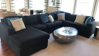 Black fabric 145 inches sectional Aldie, 20105