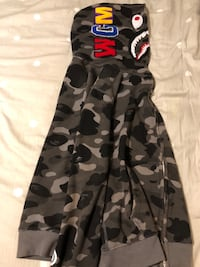 A Bathing Ape Black Shark Hoodie Mississauga, L5G