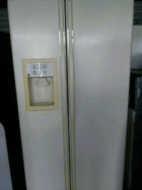 white side-by-side refrigerator with dispenser Virginia Beach, 23456