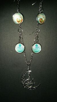 Nautical Summer Necklace & Earrings Set NEW Grove City