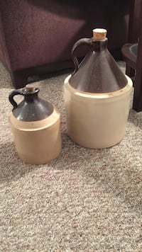 brown and tan antique ceramic jugs Oyster Bay, 11797