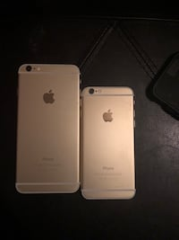 two silver iPhone 6 and 6s