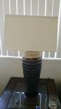 white and black table lamp Henderson, 89012