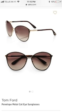 Authentic Tom Ford sunglasses Edmonton, T6K