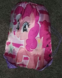 Mlp Drawstring bag with sleeping bag and pillow case