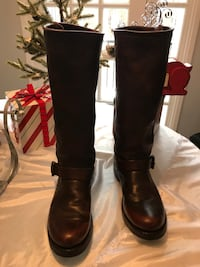 FRYE Women's Veronica Slouch Brown Soft Leather Pull On Riding Biker Boots Size 8