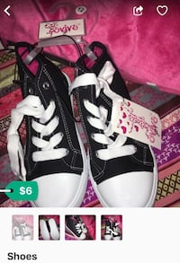 black-and-white lace-up low-top sneakers for children Hyattsville, 20782