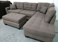 Brand New Coffee  Linen Sectional Sofa +Ottoman  Silver Spring, 20902