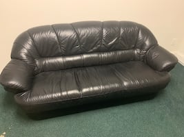Couch and love seat Italian leather