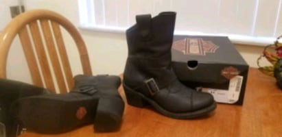 Ladies Leather Harley Boots 8.5