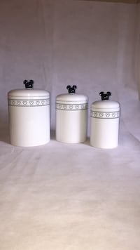 Vintage Mickey canister set! Used but like new Harvey, 60426