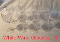 **OBO** Wine Glasses - Villeroy & Boch Maxima Decorated Dots - 8 red and 8 white Hoover, 35226
