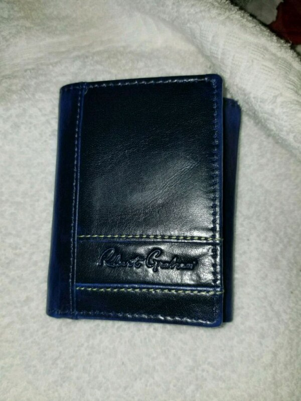 Dark Blue Leather Robert Graham Wallet
