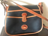 black and brown leather crossbody bag Templeton, 93465