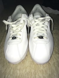 pair of white Nike low-top sneakers Durham, 27704