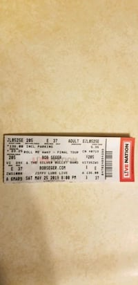 1 ticket to Bob Seger concert at jiffy lube live Westminster