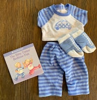American Girl Bitty Baby Bedtime Fun outfit with book Mc Lean, 22101