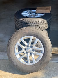 18 inch 6 lug rims and tires