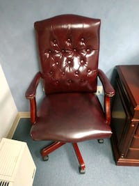 2 Burgundy Executive Chairs $50 Each or OBO Falls Church