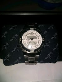 round silver-colored analog watch with link bracelet Edmonton, T5A 3T7