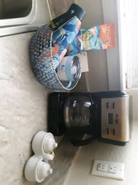 Mr coffee with sugar and creamer dish along w/ Jamaica coffee and more