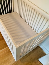 White Babyletto Hudson 3-in-1 Crib Chevy Chase Section Three, 20815