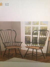 two brown wooden windsor chairs New York, 11364