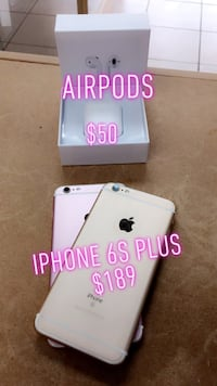 iPhone 6s Plus with AirPods  Tampa, 33612