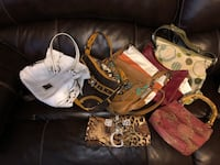 Women's brown and black leather shoulder bag Union City, 30213