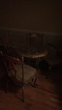brown wooden table with chair Clinton, 20735